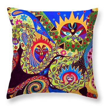 Throw Pillow featuring the painting Serpent's Dance by Marina Petro