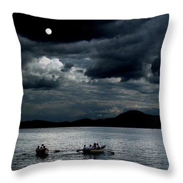 Twice In A Blue Moon Throw Pillow