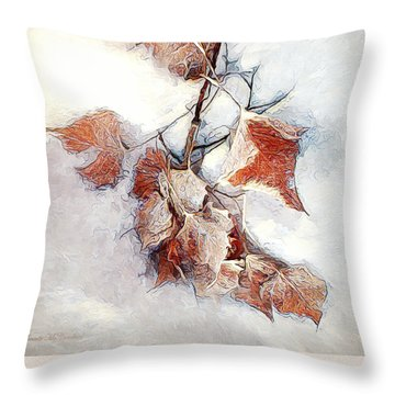 Throw Pillow featuring the photograph Twigged by Pennie  McCracken