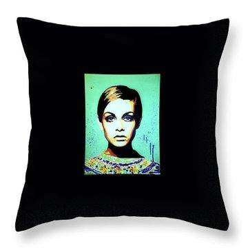 Twiggy  Throw Pillow by Grant Swinney