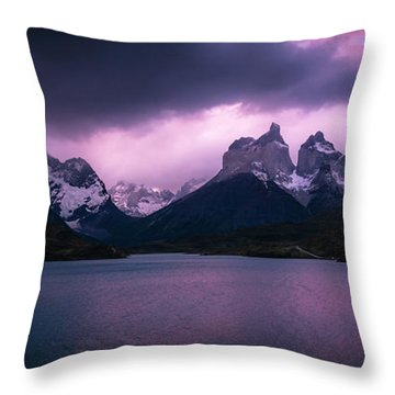 Twilight Over The Lake Throw Pillow by Andrew Matwijec