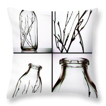 Twigs - Four Panel Throw Pillow