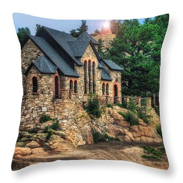 Twilight At Chapel On The Rock Throw Pillow