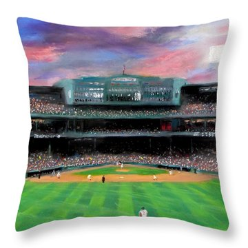 Twilight At Fenway Park Throw Pillow