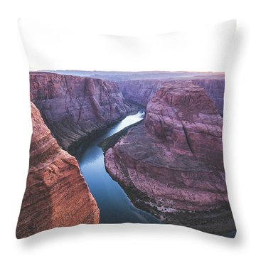 Twilight At Horseshoe Bend Throw Pillow by JR Photography