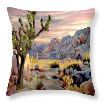Twilight At Joshua   Vert. Throw Pillow