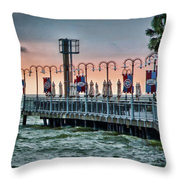 Twilight At Kemah Throw Pillow