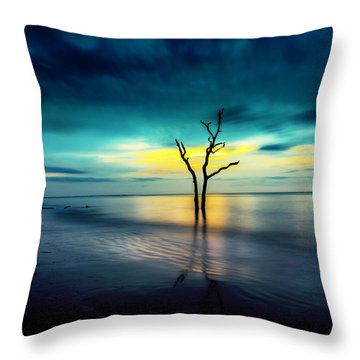 Twilight At The Boneyard Throw Pillow
