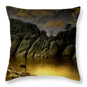 Twilight At The Lake Throw Pillow