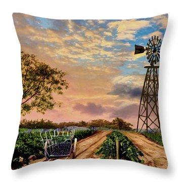 Twilight At The Vineyard Throw Pillow