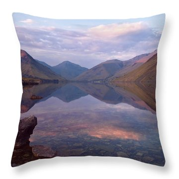 Twilight At Wastwater In Cumbria Throw Pillow