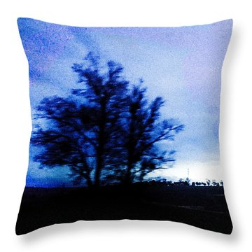 Throw Pillow featuring the photograph Twilight  by Bee-Bee Deigner