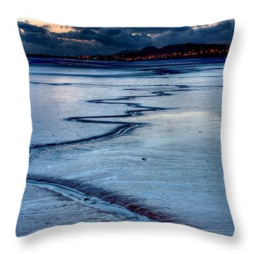 Twilight, Conwy Estuary Throw Pillow