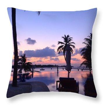 Twilight Throw Pillow by Corinne Rhode