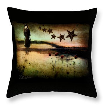Throw Pillow featuring the digital art Twilight by Delight Worthyn