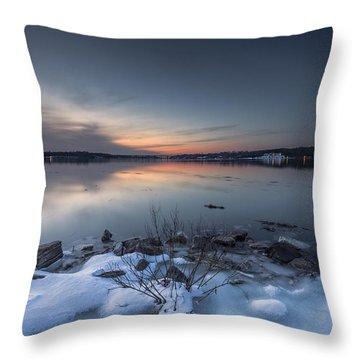 Throw Pillow featuring the photograph Twilight by Edward Kreis
