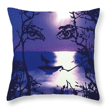 Twilight Face Throw Pillow