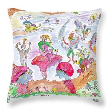 Twilight Faerie Glen Throw Pillow