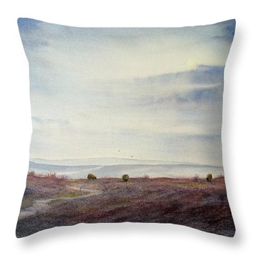 Twilight Settles On The Moors Throw Pillow