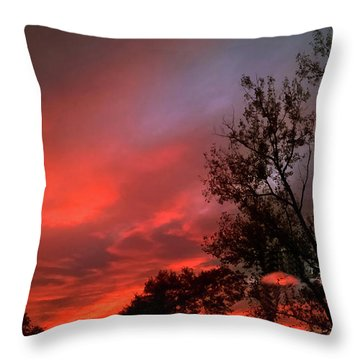 Twilight Fire Throw Pillow