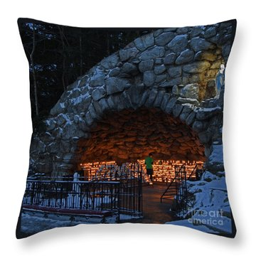 Twilight Grotto Prayer Throw Pillow