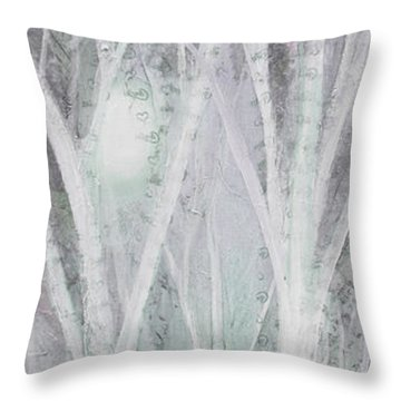 Twilight In Gray I Throw Pillow
