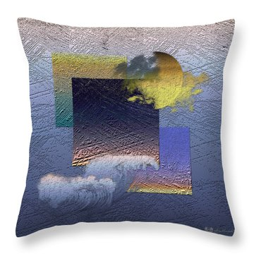 Twilight Interrupted By Ocean Breeze Throw Pillow by Serge Averbukh