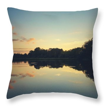 Throw Pillow featuring the photograph Twilight by Karen Stahlros