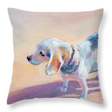 Pastel Pet Portrait Throw Pillows
