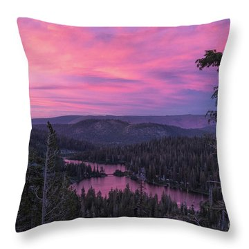 Twilight Mammoth Lakes  Throw Pillow