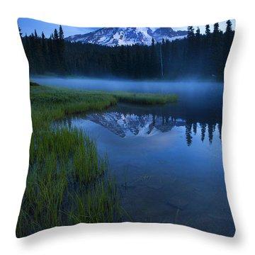 Twilight Mist Rising Throw Pillow