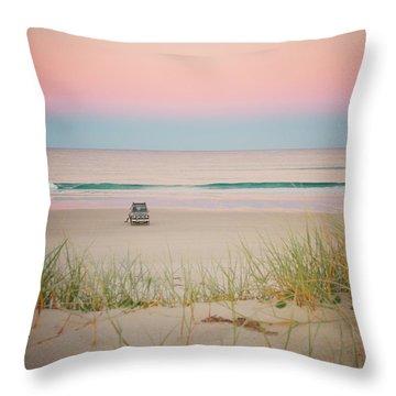 Twilight On The Beach Throw Pillow