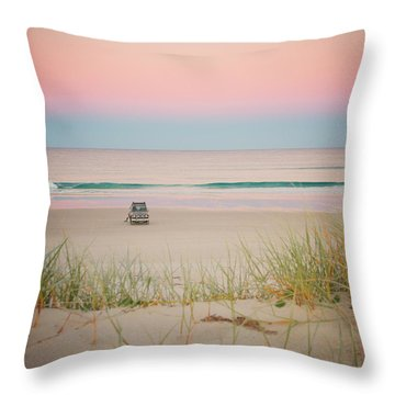 Twilight On The Beach Throw Pillow