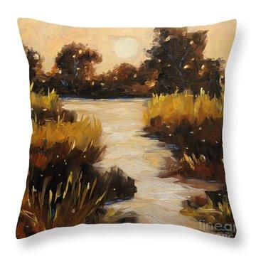 Twilight On The Marsh By Prankearts Throw Pillow