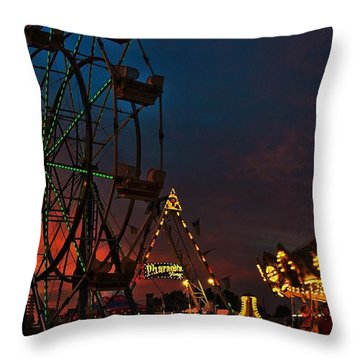 Twilight On The Midway  Throw Pillow