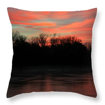 Throw Pillow featuring the photograph Twilight On The River by Chris Berry