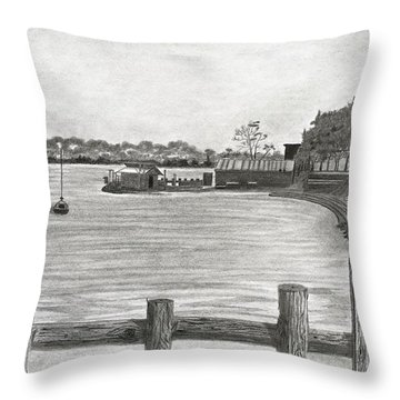 Twilight On Tomales Bay Throw Pillow