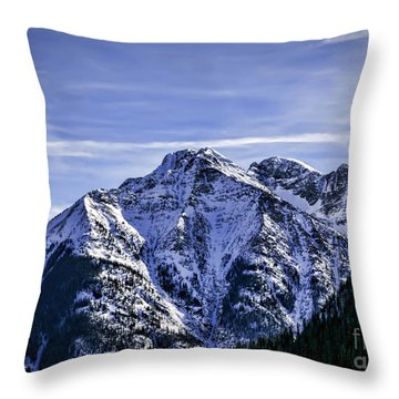 Twilight Peak Colorado Throw Pillow