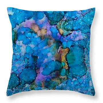 Throw Pillow featuring the painting Twilight Recall Ink #20 by Sarajane Helm