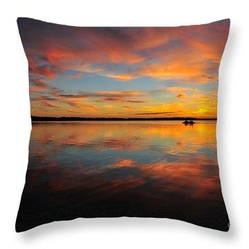 Twilight Reflection Throw Pillow