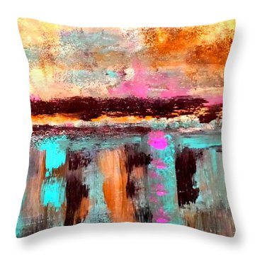 Twilight Reflections Throw Pillow