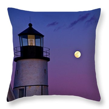 Twilight At Sandy Neck Lighthouse Throw Pillow