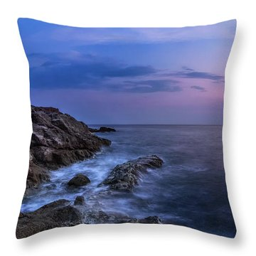 Twilight Sea Throw Pillow