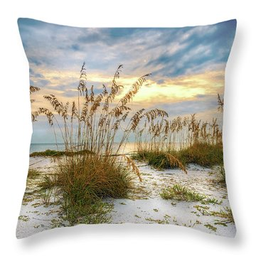 Twilight Sea Oats Throw Pillow by Steven Sparks