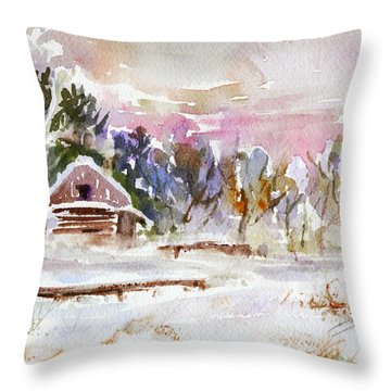 Twilight Serenade I Throw Pillow by Xueling Zou