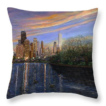 Twilight Serenity Throw Pillow by Doug Kreuger