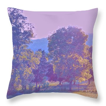Twilight Throw Pillow by Shirley Moravec