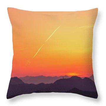Throw Pillow featuring the photograph Twilight by Tatsuya Atarashi