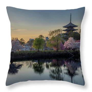 Throw Pillow featuring the photograph Twilight Temple by Rikk Flohr