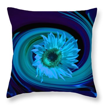 Throw Pillow featuring the photograph Twilight Vortex by Laura Ragland